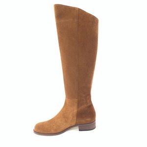 Hobbs Martha Tan Leather Suede Knee